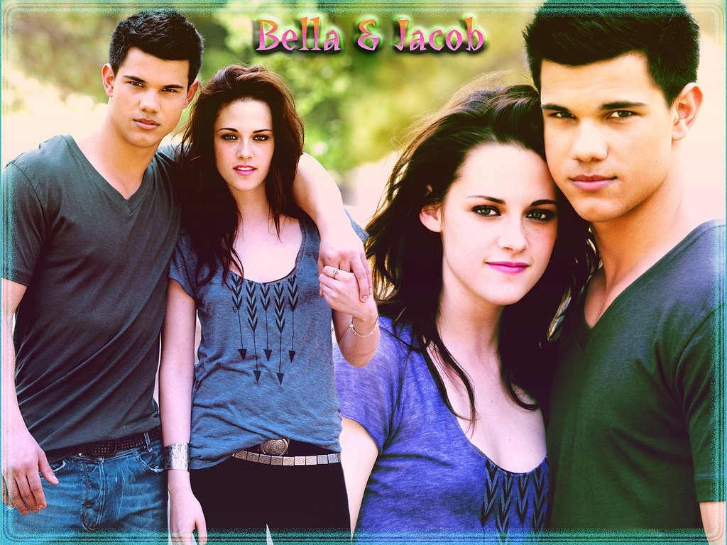Bella-Jacob-twilight-series-7803589-1024-768 - сумреки обои