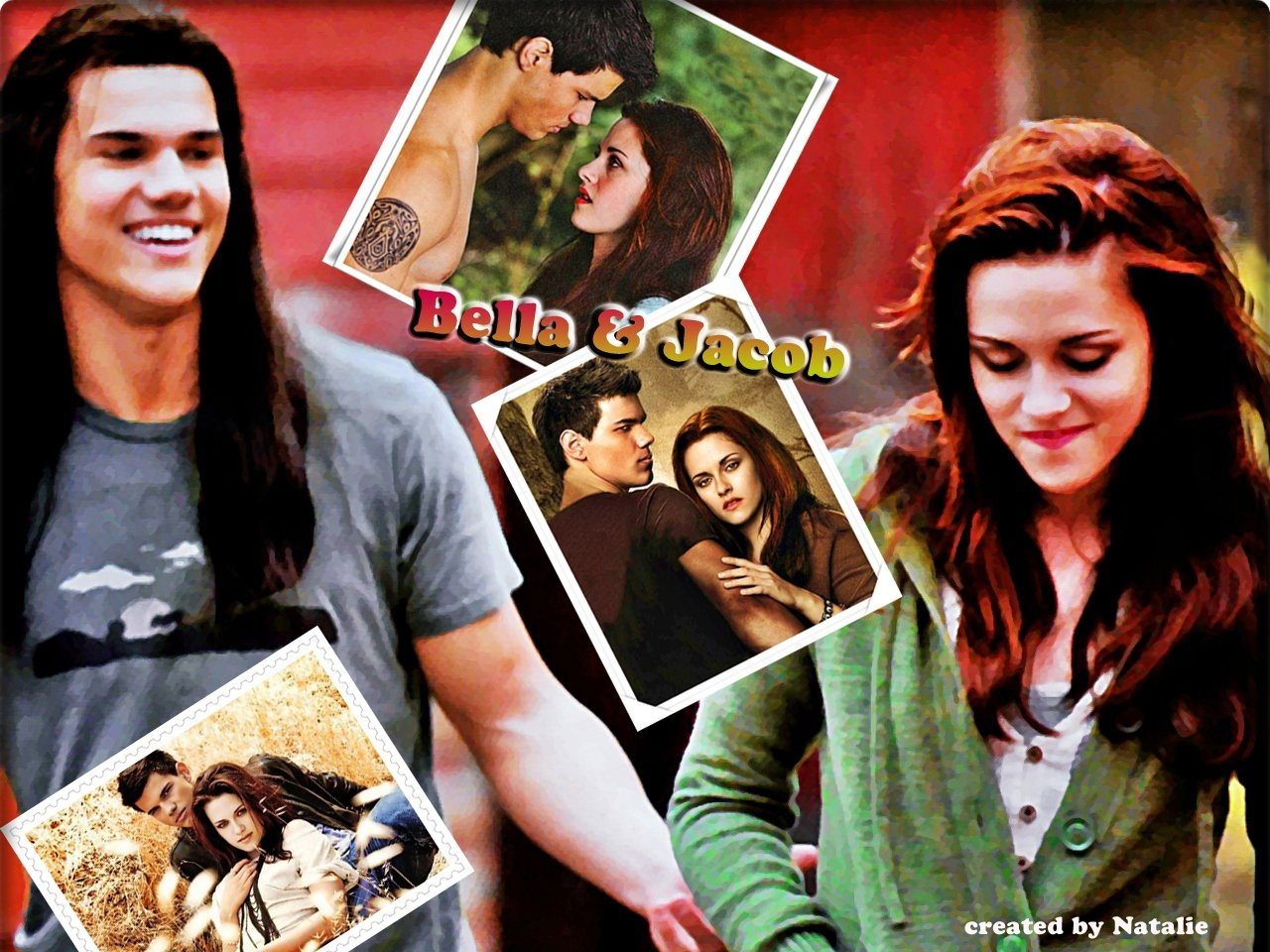 -Bella-Jacob-twilight-series-8466106-1280-960 - сумреки обои