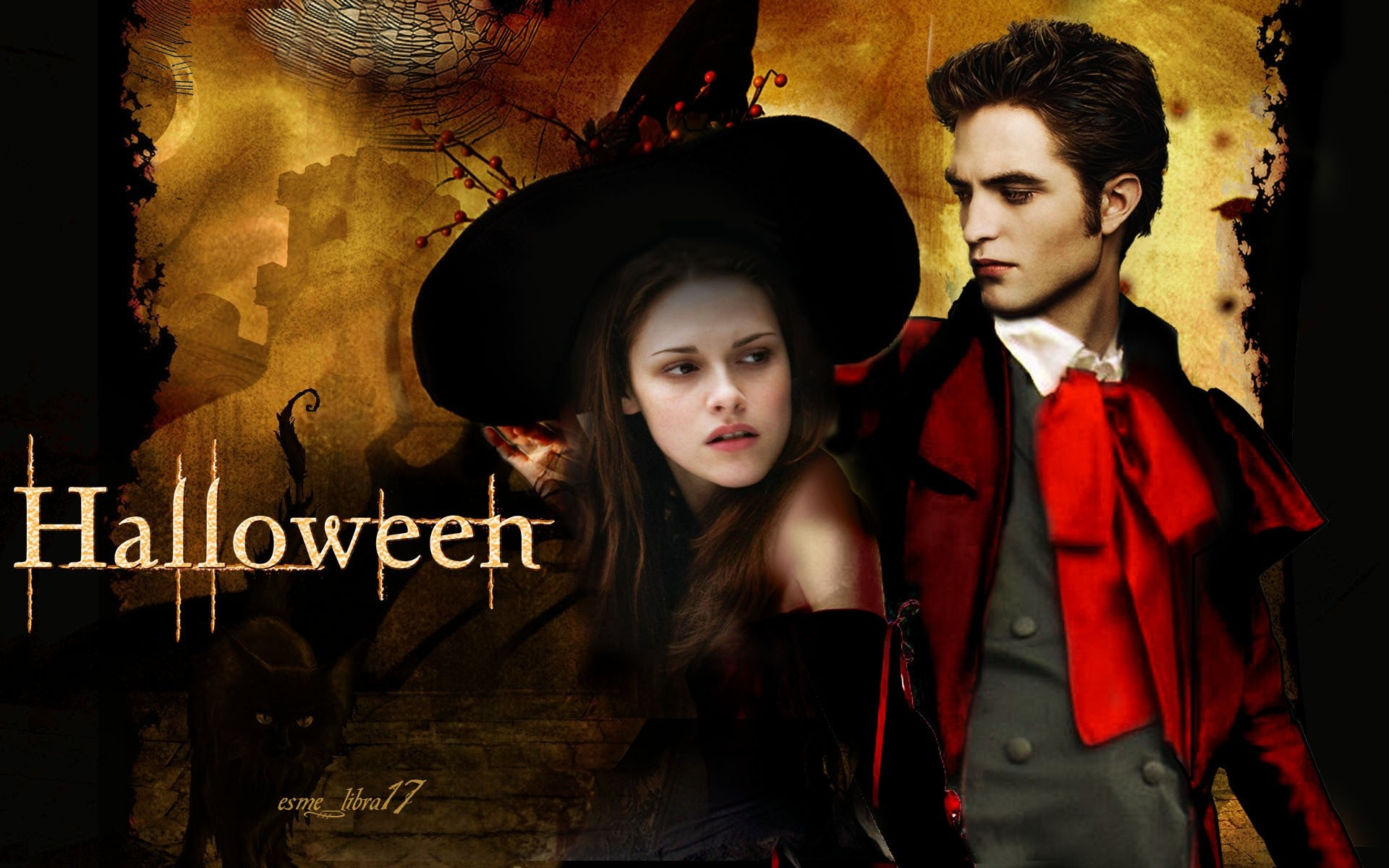 happy-halloween-twilight-cast-twilight-series-8815774-1920-1200 - сумреки обои